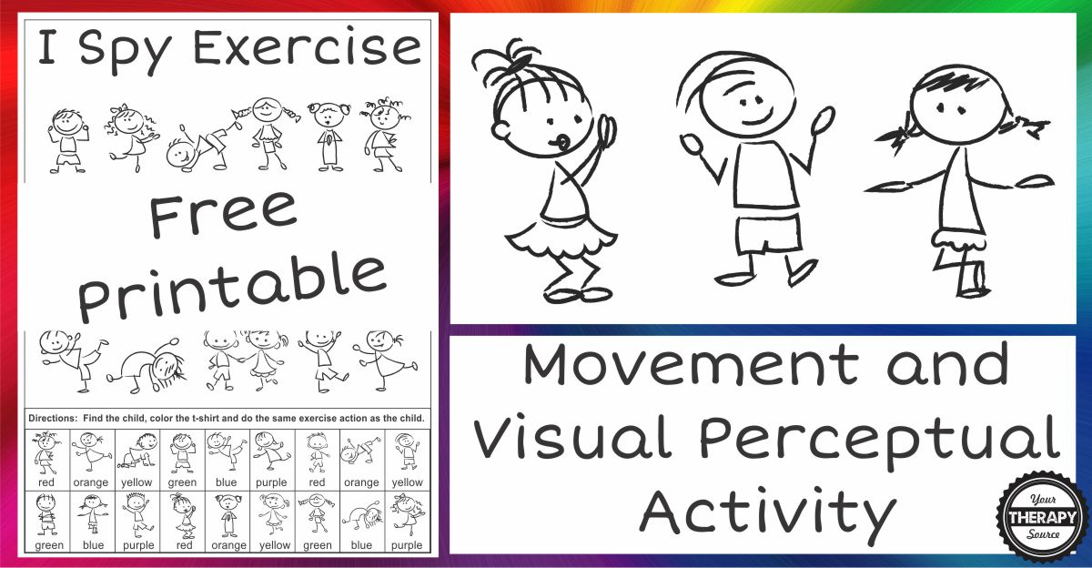 Printable Worksheets free visual perceptual worksheets : I Spy Exercise Movement and Visual Perceptual Activity Freebie ...