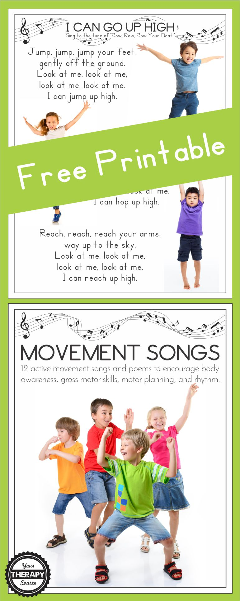 I Can Go Up High Movement Song Are you in search of a quick movement activity that requires no equipment? Maybe the children that you work with need body awareness, motor planning, and coordination practice.