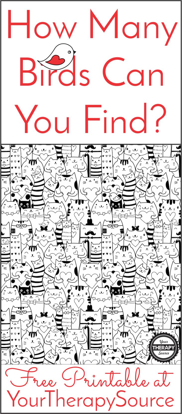 How Many Birds Can you Find Visual Perceptual Activity from Your Therapy Source