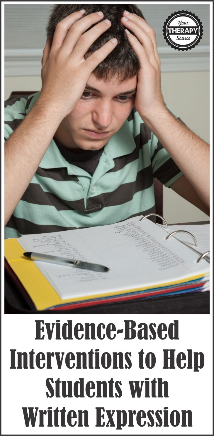 Evidence-Based Interventions to Help Students with Written Expression