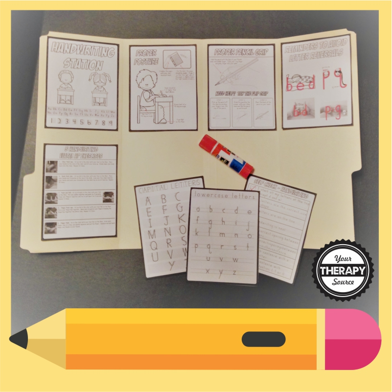 Why not set up handwriting practice for kids by creating handwriting stations for your classrooms or home?  Read more on how to set it up.
