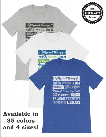 Physical Therapy Word Collage T-Shirt