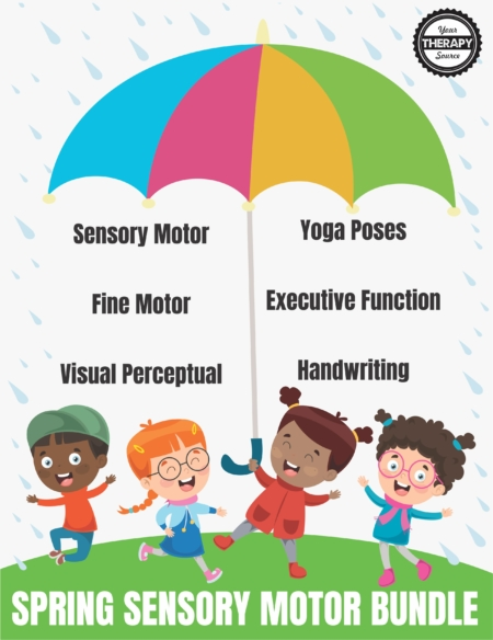 Check out this SPRING SENSORY MOTOR BUNDLE! It is a collection of SPRING activities to encourage fine motor, gross motor, handwriting, and visual perceptual skills. From Your Therapy Source