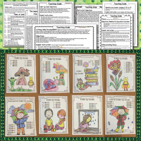 Spring Skill Builders: Integrated Fine-Motor, Literacy, Math, Executive Function
