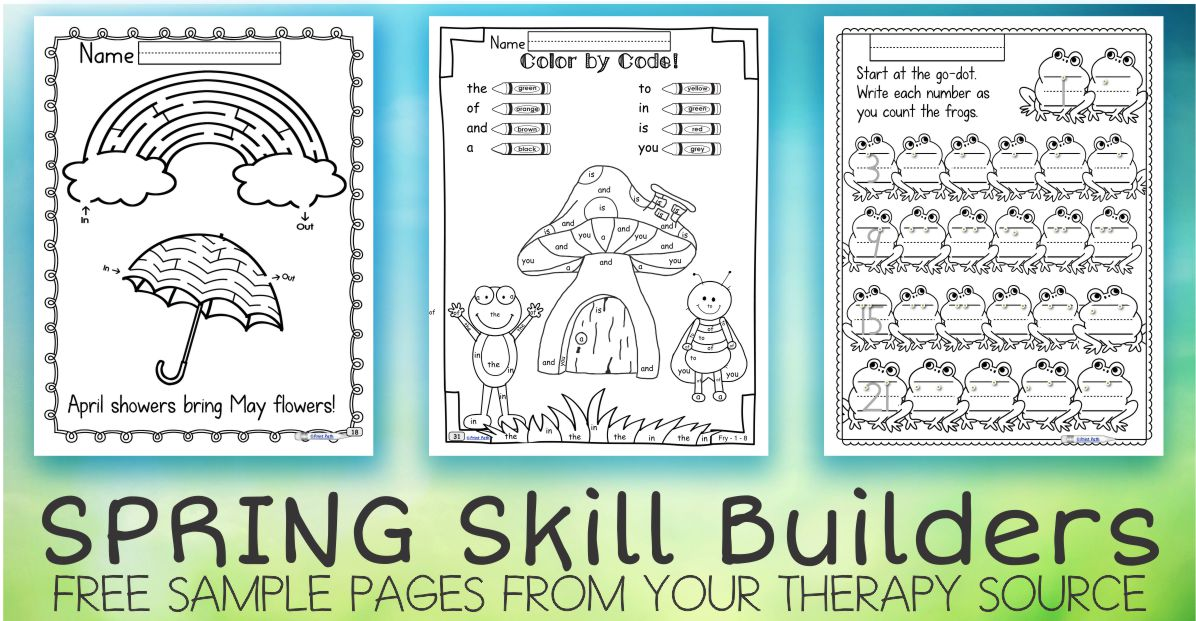 Spring Fine Motor and Executive Function Skills Freebie