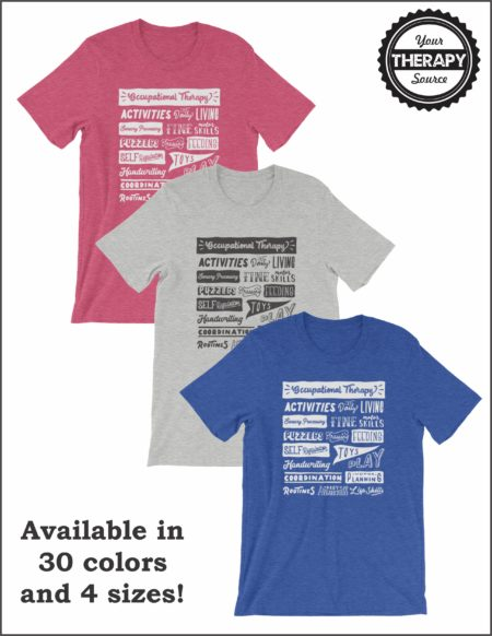 Occupational Therapy T-shirtWord Collage
