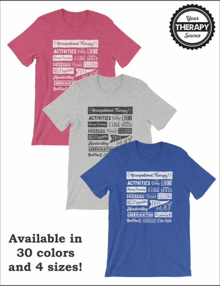 Occupational Therapy T-shirt Word Collage