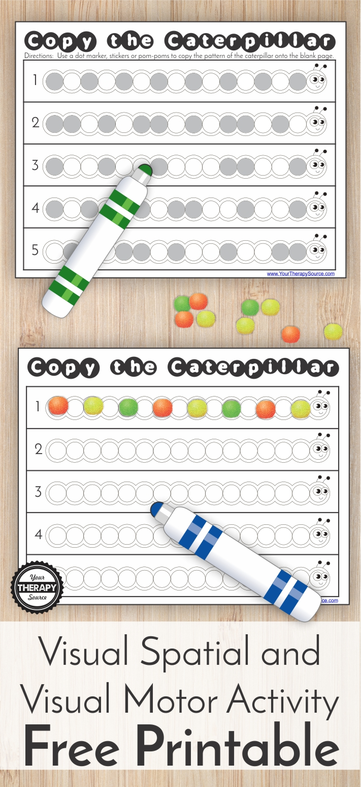 Copy the Caterpillar Visual Spatial and Visual Motor Activity
