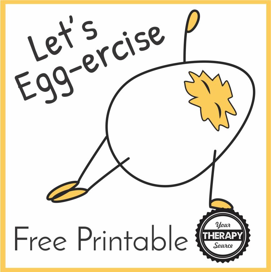 Springtime Exercises - Let's Egg-ercise!