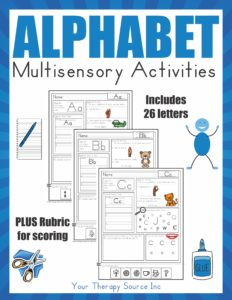 Multisensory Alphabet Activities from Your Therapy Source