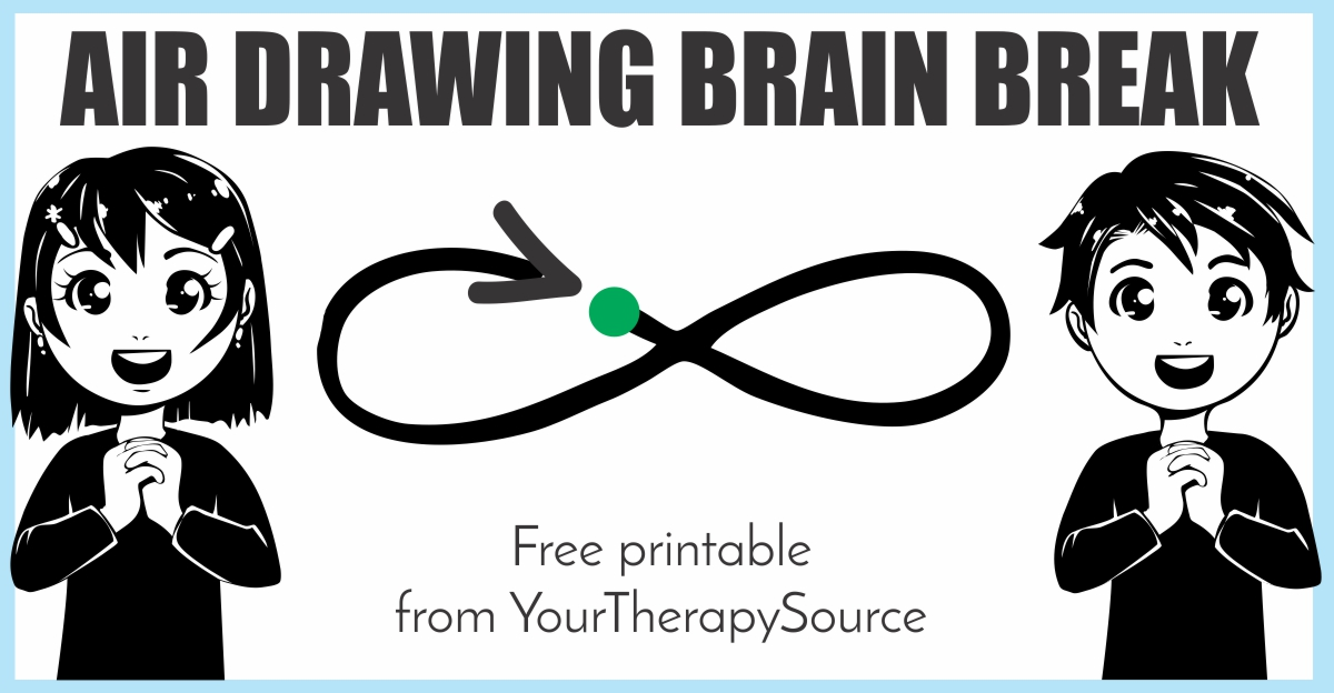 Air Drawing Brain Break Freebie