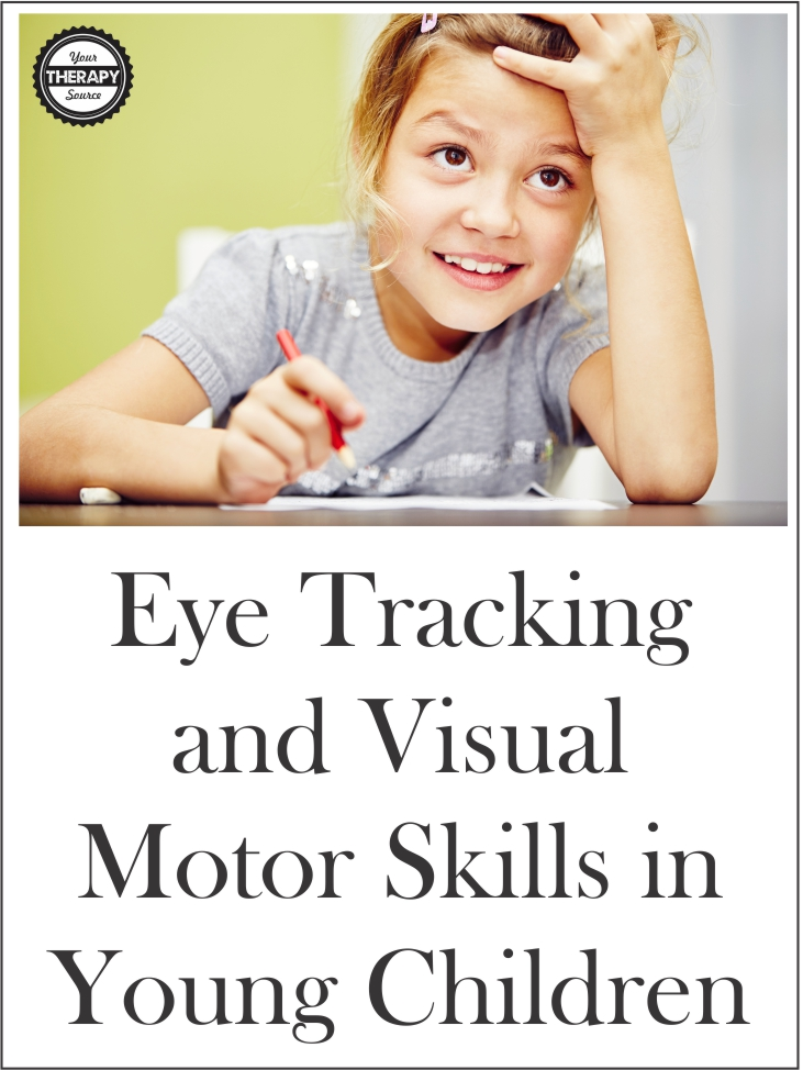 The Journal of Experimental Psychology published research examining eye tracking and visual motor skills in young children.  Using head-mounted eye tracking methods visual motor skills were directly measured when the children copied familiar (English letters) and unfamiliar (Cyrillic symbols) forms in real time.