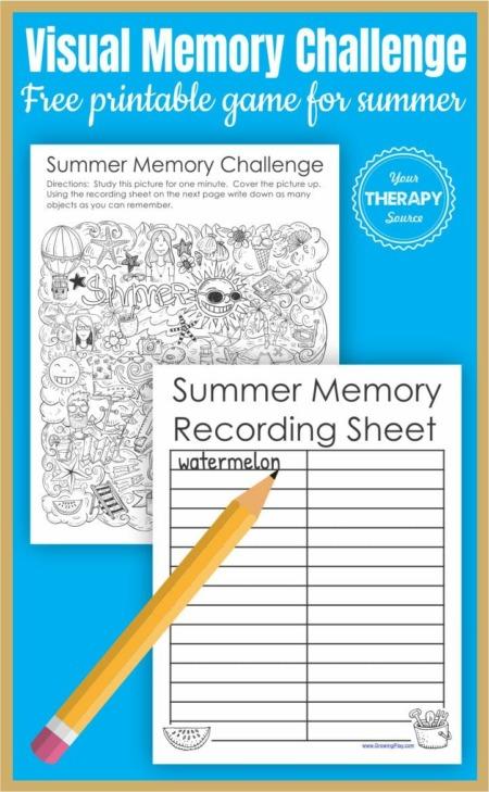 Free summer memory challenge game