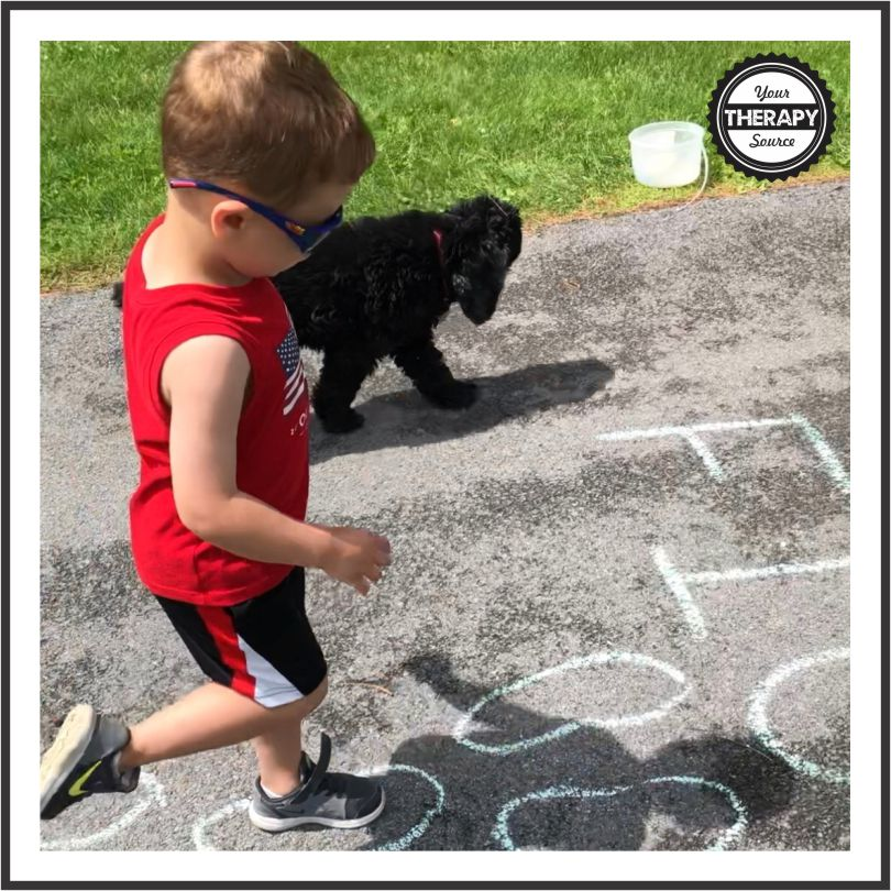 Sidewalk Chalk Obstacle Course Movement and Learning