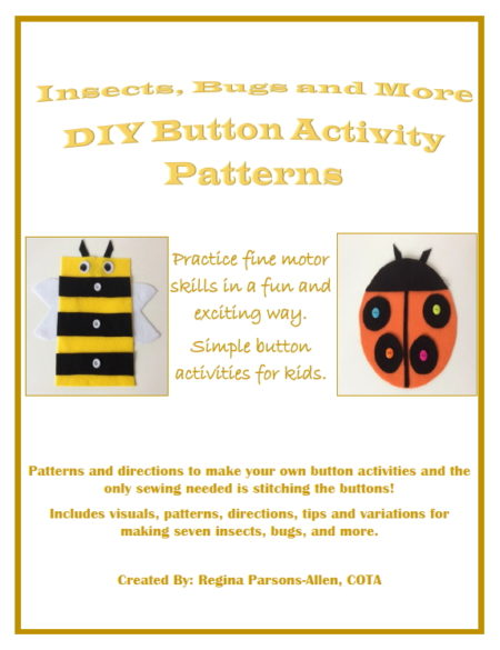 DIY Button Activity Patterns - Insects, Bugs, and More