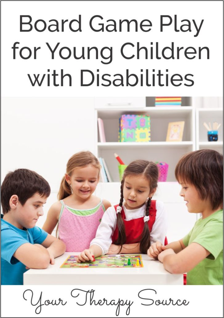 Research indicates that play is associated with improved social and communication skills and promotes improved physical and mental health.  In addition, play provides opportunities to foster relationships with caregivers and peers.  There are many benefits of board game play for young children with disabilities.