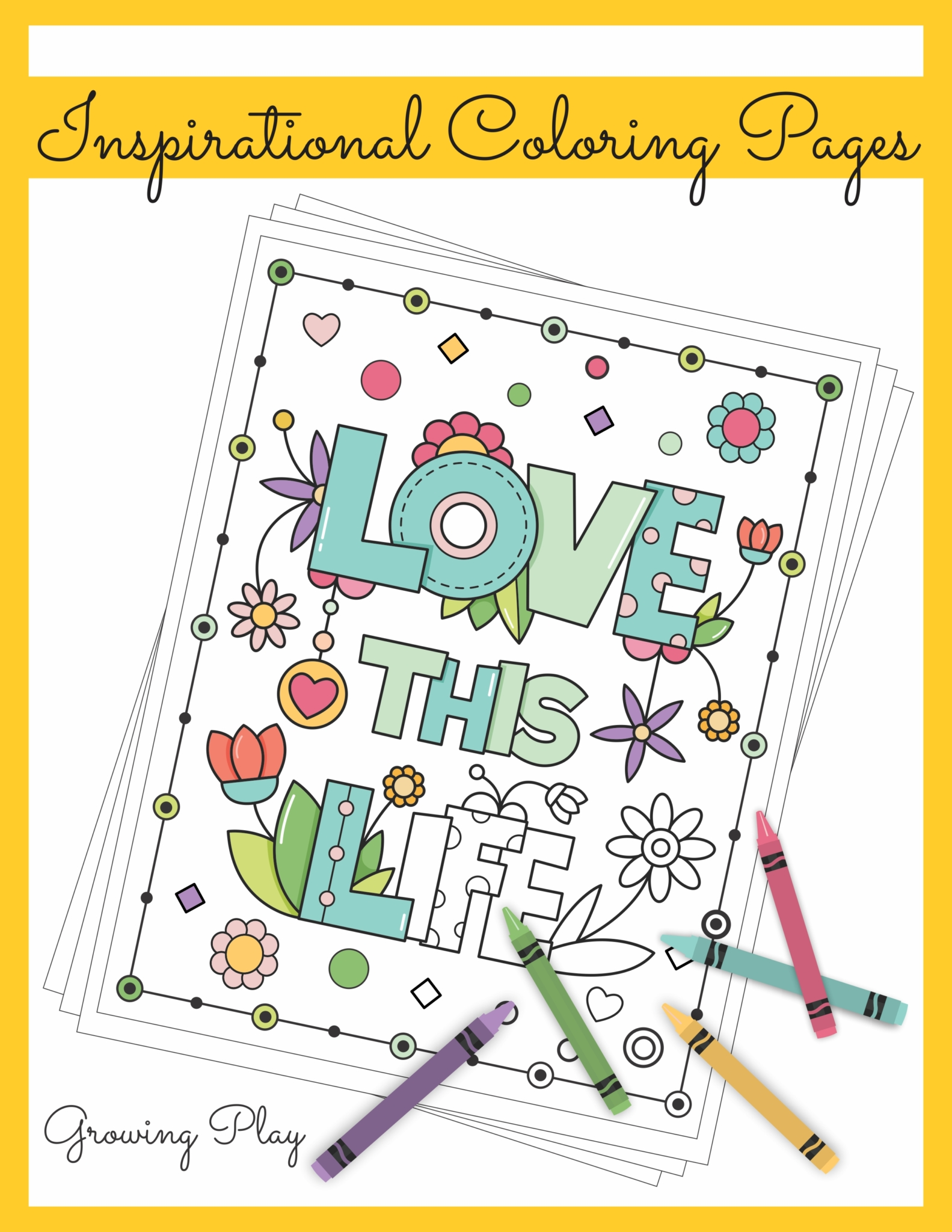 Inspirational Coloring Book Your Therapy Source