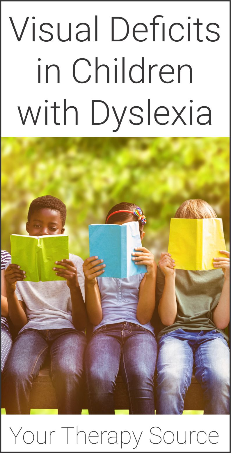 Research indicates that the core cognitive deficit in dyslexia involves language (phonological) processing.  Since reading is also a visual task, researchers explored the potential role of visual deficits in children with dyslexia.
