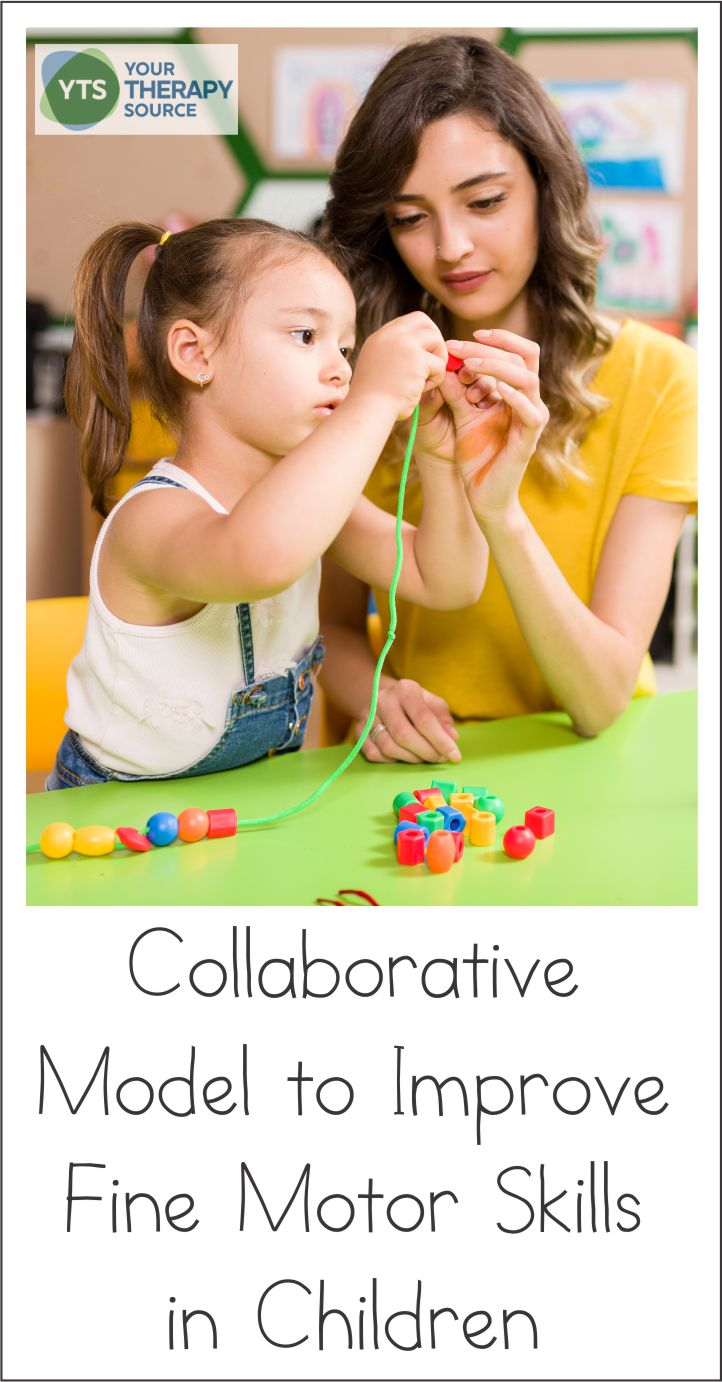 Do you provide push-in or collaborative treatment sessions as a school-based Occupational Therapist? Many school-based therapists do provide related services in this manner to help improve carryover of services. Occupational Therapist Ingrid C. King, MSc. completed a research study on a collaborative model to improve fine motor skills in children.
