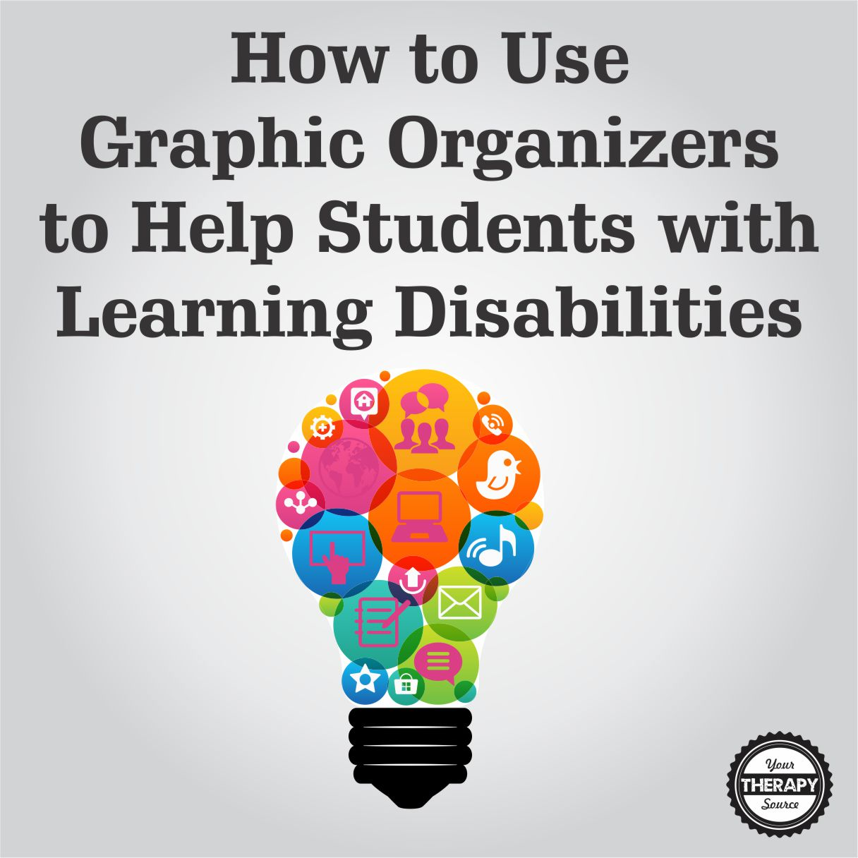 Students with learning disabilities are at risk for falling behind and may require explicit instruction to assist with comprehending text and producing written work.  Here is some information on how to use graphic organizers to help students with learning disabilities.