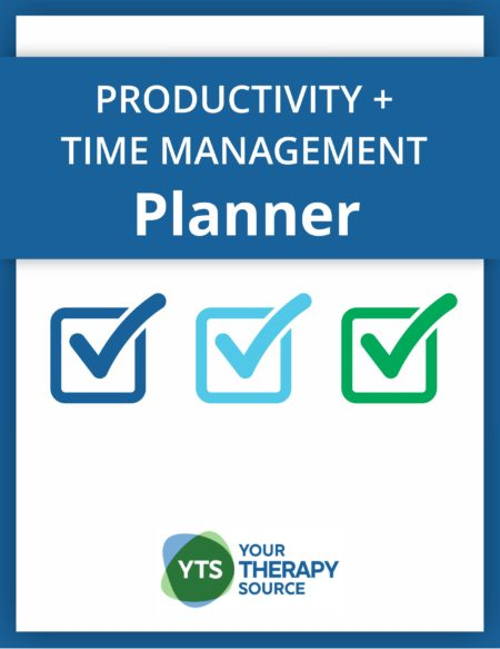 Therapists, teachers, students, and parents can potentially reach their goals faster by using the Productivity and Time Management Planner because it teaches how to improve the quantity and quality of work you complete each day.
