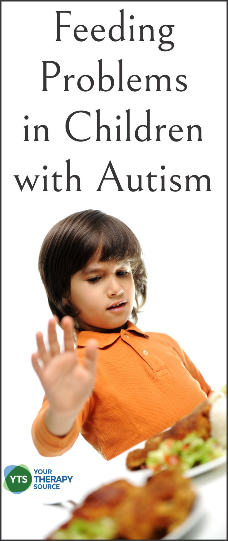 Researchers have determined that there is a higher prevalence of feeding problems in children with autism over three years of age.  The research has consistently found that more than 50% of children with ASD exhibit limited food acceptance.  This can increase stress levels for families, in addition, to put children at risk for decreased intake of important minerals and vitamins.