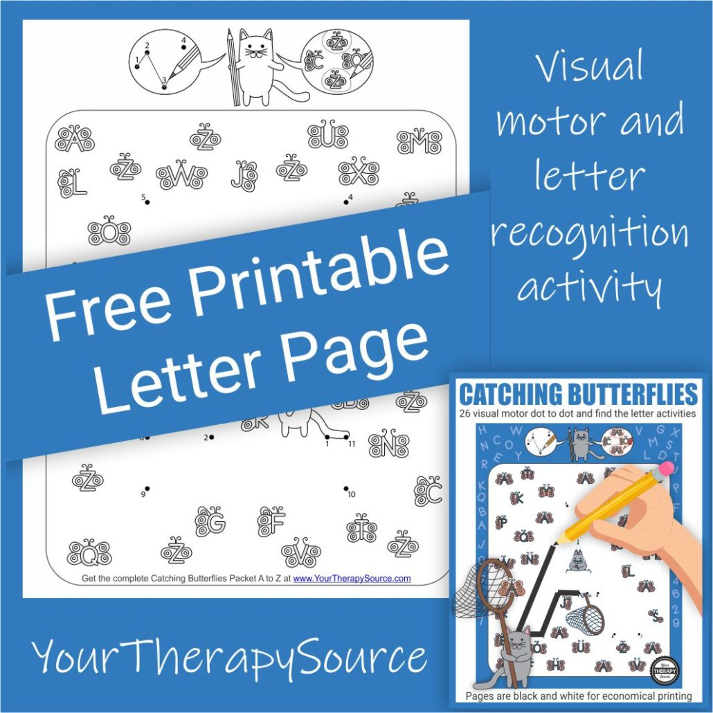 Can you catch the correct butterflies?  Download this freebie from the Catching Butterflies complete packet.  Connect the dots to form the mystery letter.  Once you recognize the letter, catch (circle with your pencil) all of the matching butterfly letters.