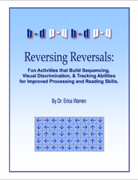 Reversing Reversals is a digital download that includes fun activities that build sequencing, visual discrimination, and visual tracking skills to help children improve processing and reading skills.