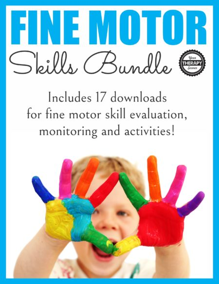 This FINE MOTOR BUNDLE includes 17 downloads to encourage children to practice various fine motor skills such as pincer grasp, tripod grasp, finger isolation, in-hand manipulation and more.