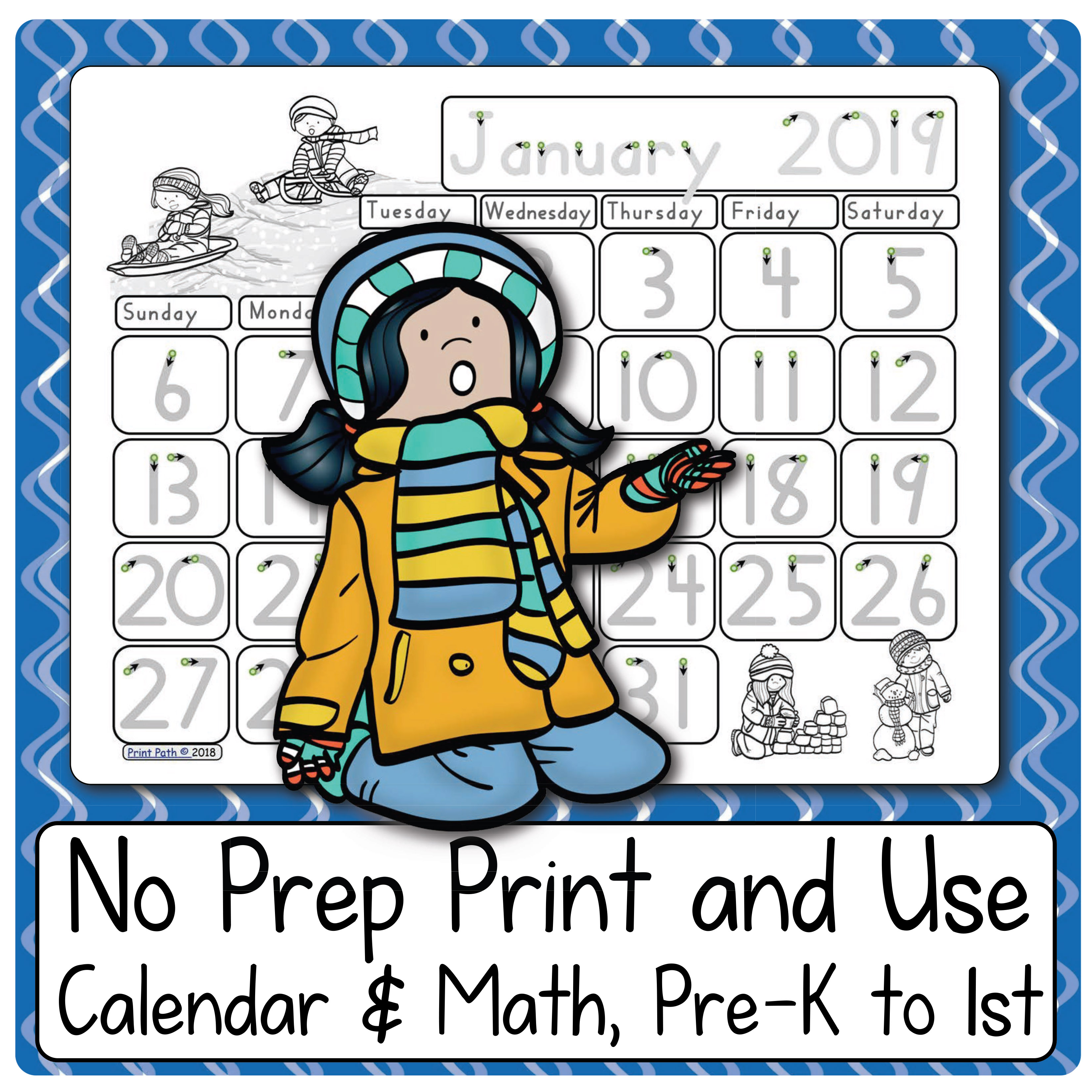 Blank And Traceable Calendars 2018 2019 And Calendar Notebook Your