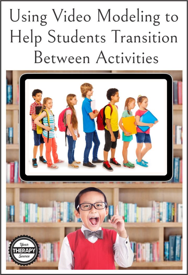Have you ever considered using video modeling to help students transition between activities?  During the elementary and preschool day, transitions account for 25% of the day.  That's a lot of transitions!  No wonder why teachers ask OTs and PTs for help when students are having difficulties with transitions.