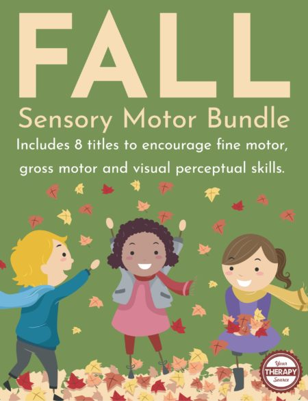 The Fall Sensory Motor Bundle includes 8 titles to encourage fine motor, gross motor, executive functioning, and visual perceptual skills in children.