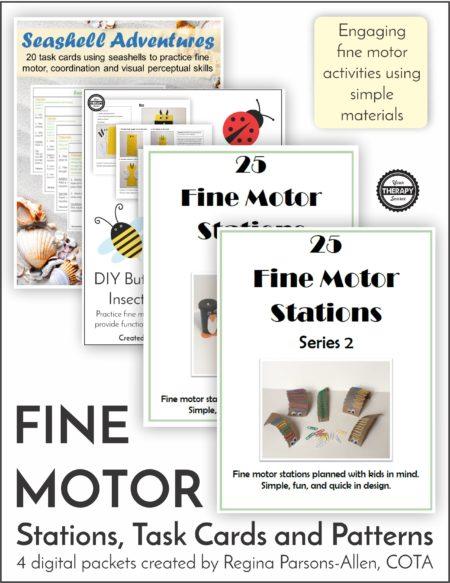Fine Motor Stations, Task Cards and Patterns Bundle