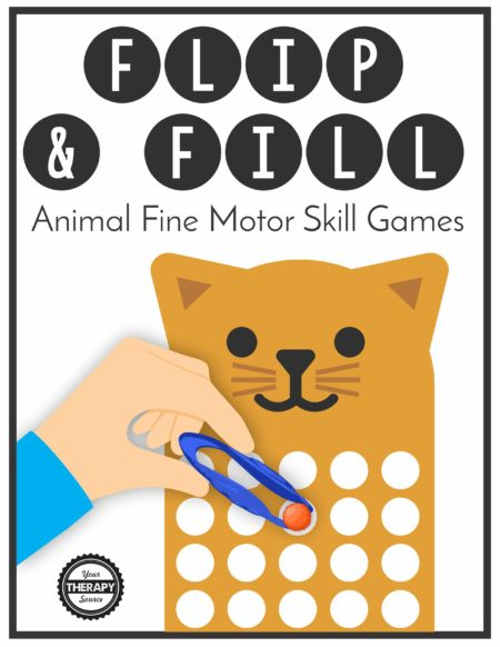 Flip and Fill Animal Fine Motor Game