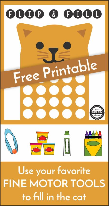 Check out the Flip and Snip Game to practice scissor skills. Check out Animal Actions A to Z to get practice gross motor skills before fine motor skill work.