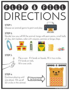 Directions for Flip and Fill from Your Therapy Source