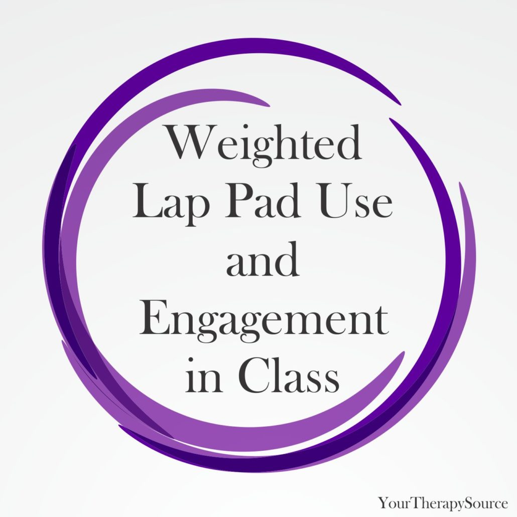 Focus on Autism and Other Developmental Disabilities published a brief report on weighted lap pad use and engagement in class for a kindergarten student with autism spectrum disorder.