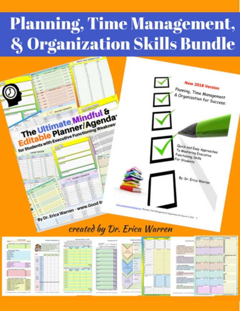 executive functioning worksheets for students
