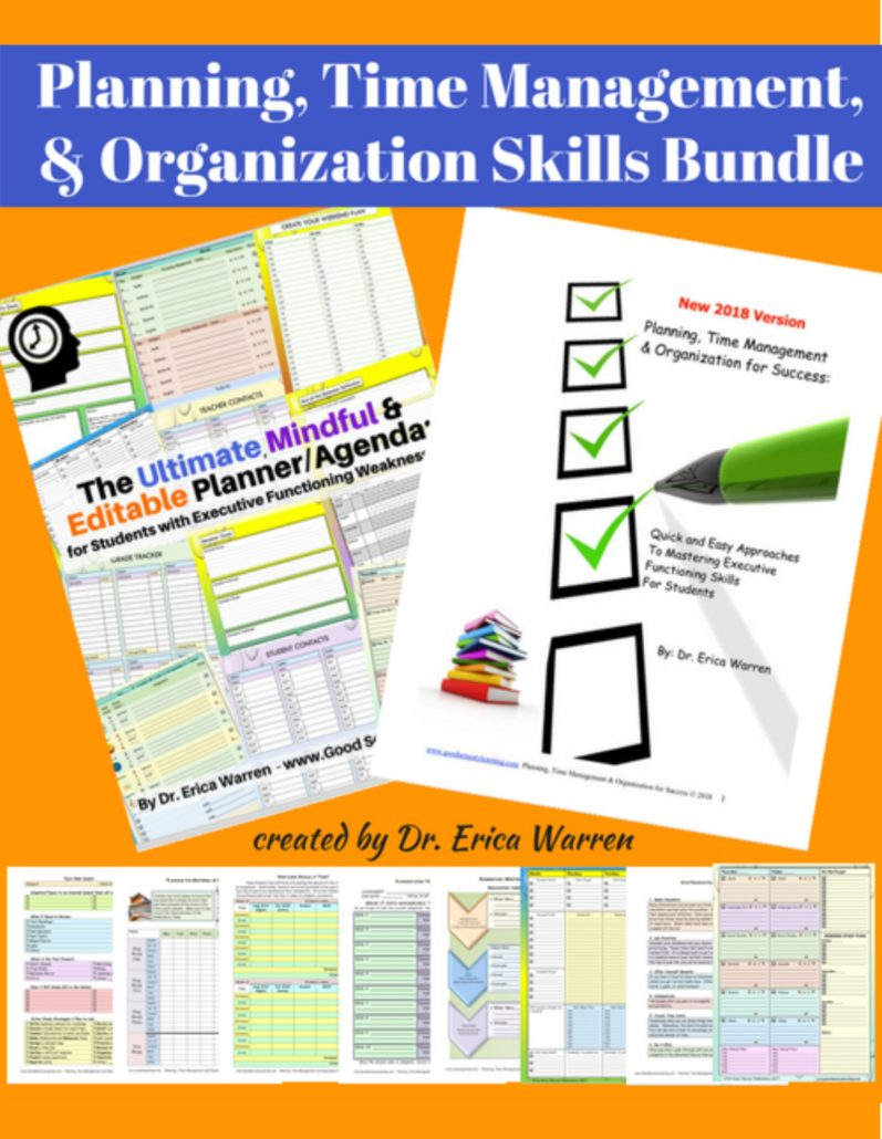 planning and organizational skills