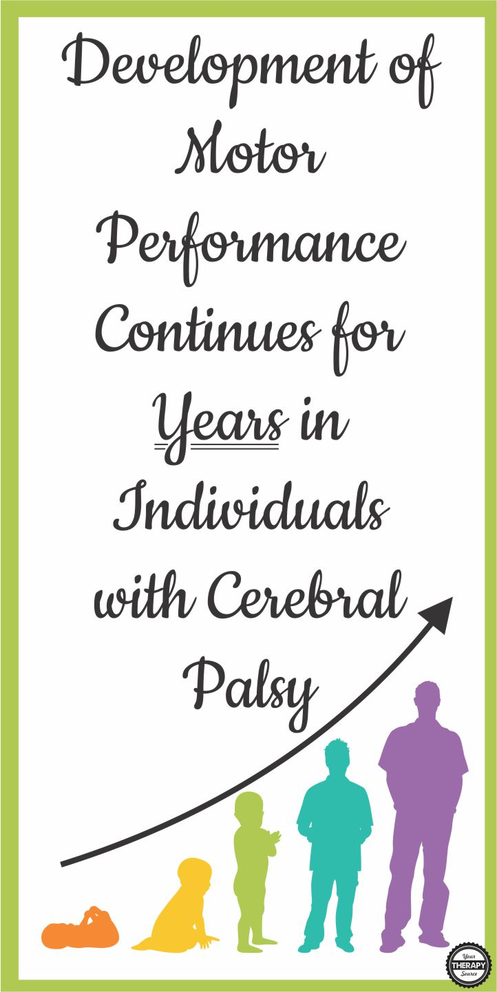 The Annals of Physical Medicine and Rehabilitation published research on activity performance curves for individuals with cerebral palsy to determine if the development of motor performance continues for years in individuals with cerebral palsy.