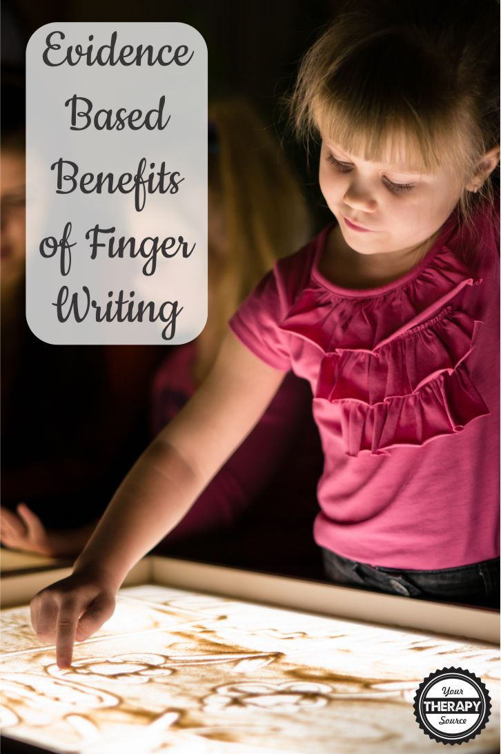 Most pediatric Occupational Therapists and teachers know the benefits of multisensory learning to help with cognition.  Reading and Writing recently published an article specifically on the evidence-based benefits of finger writing with children.