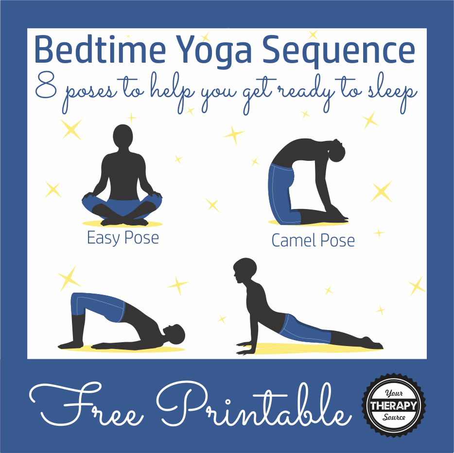 Bedtime Yoga Sequence Free Printable Your Therapy Source