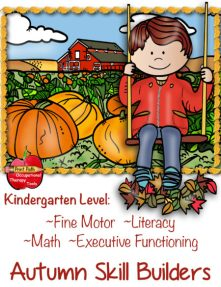 Created by school-based Occupational Therapist, Thia Triggs, The Occupational Therapy Tools Fine Motor Executive Functioning Fall Theme digital download helps to: Build fundamental fine motor and executive functioning skills for kindergarten age kids.