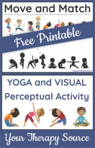 move and match yoga activity picture  your therapy source