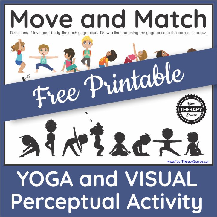 Printable Yoga Worksheet For Kids Free Your Therapy Source
