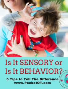 This Is It Sensory or Is It Behavior Course - On Demand 2 Hour Webinar discusses various differences between sensory and behavior.  The presenter is a pediatric Occupational Therapist, Cara Koscinski OTR/L who is also a mother to 2 sons with special needs.