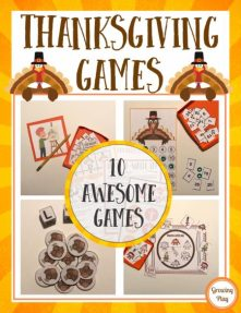 TheThanksgiving Gamesdigital download includes 10 awesome games to play during the month of November. These games are perfect to encourage turn taking, fine motor skills, gross motor skills, visual perceptual skills,and FUN! The Thanksgiving Games are great to play at school or home.