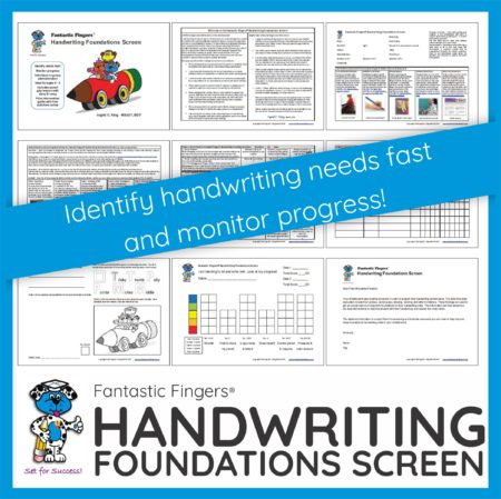 How do you assess if a child is making progress in foundational skill areas to support handwriting performance? How do you determine if further intervention is required?  Ingrid S. King MScOT, BOT developed the Fantastic Fingers ® Handwriting Foundations Screen to identify handwriting needs fast and monitor progress.