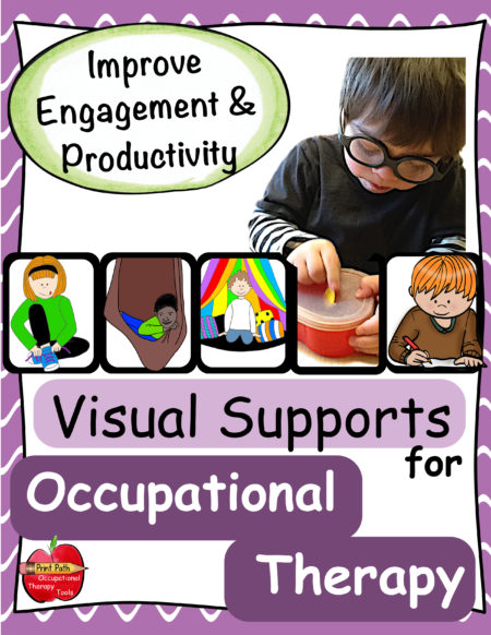 Visual Supports for Occupational Therapy can be an extremely helpful tool that almost magically improves engagement and ensures that your treatment sessions are effective. Visual supports for Occupational Therapy include task cards to be used for a variety of settings including clinic and classroom situations.
