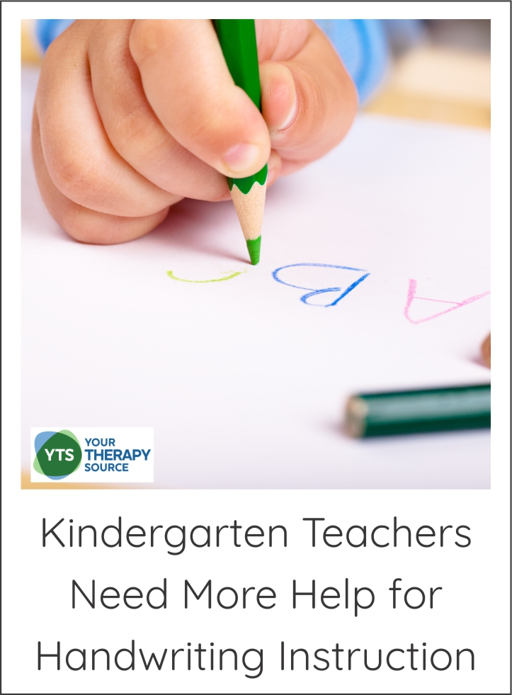 Kindergarten teachers and handwriting instruction - The teachers need more support in the area of handwriting instruction in the kindergarten classroom.